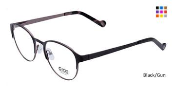 Black/Gun Gios Italia LP100035 Eyeglasses - Teenager