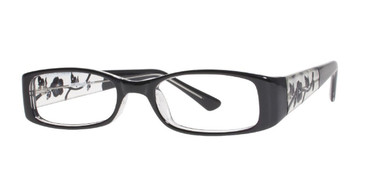 Black Affordable Designs Aurora Eyeglasses.