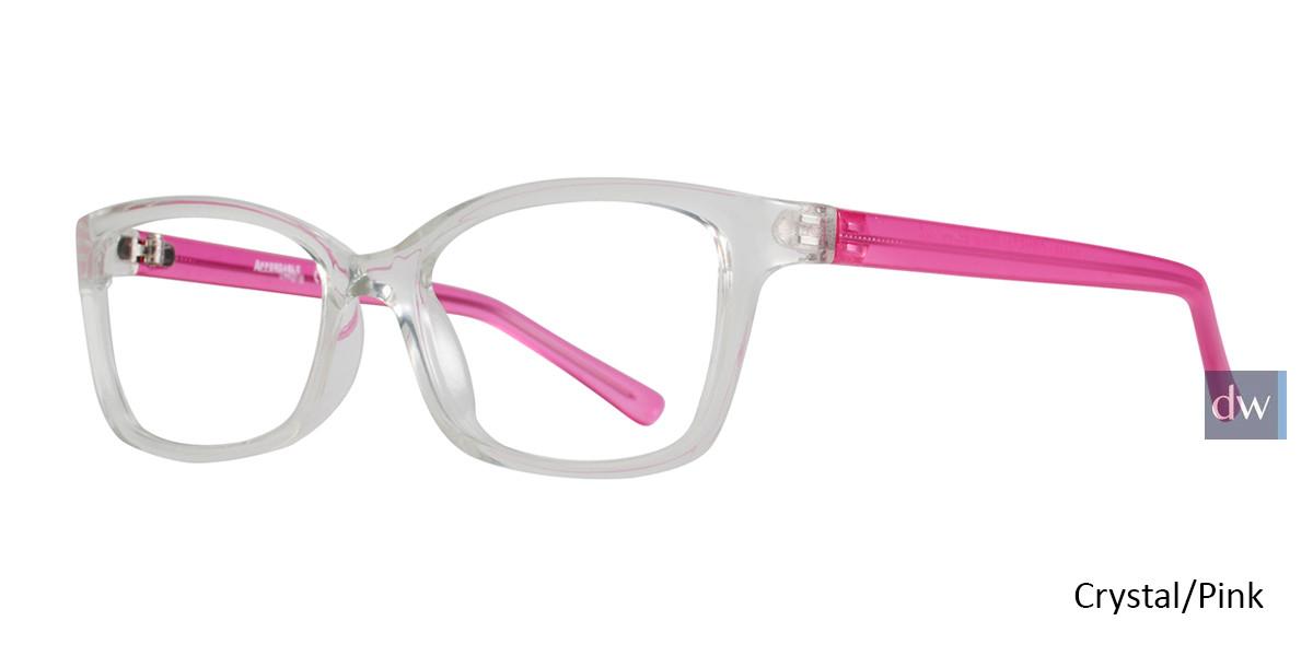 Crystal/Pink Affordable Designs Bambi Eyeglasses.