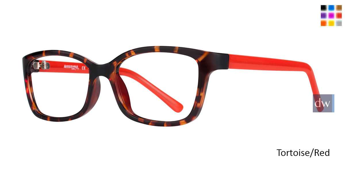Tortoise/Red Affordable Designs Bambi Eyeglasses.