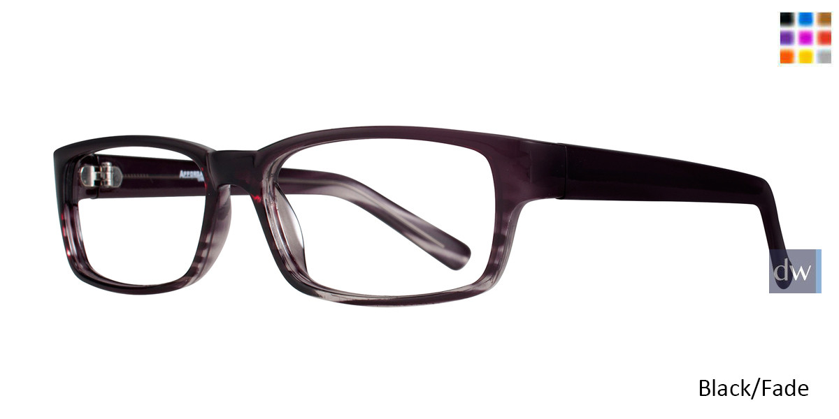 Black Fade Affordable Designs Ben Eyeglasses.