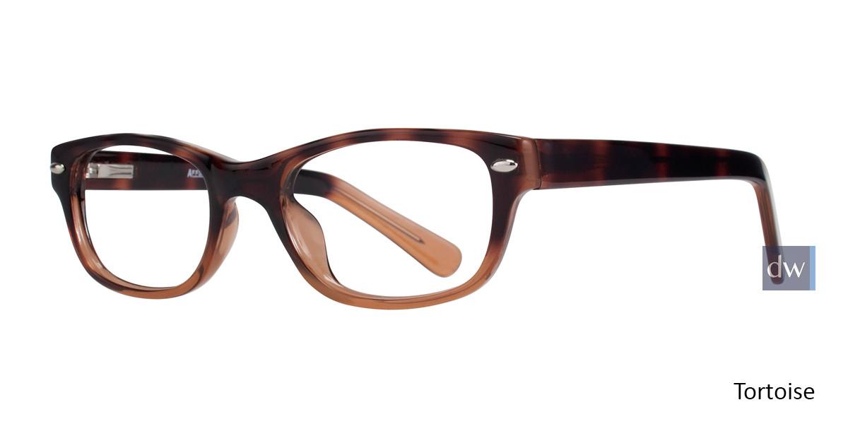 Tortoise Affordable Designs Bronx Eyeglasses.