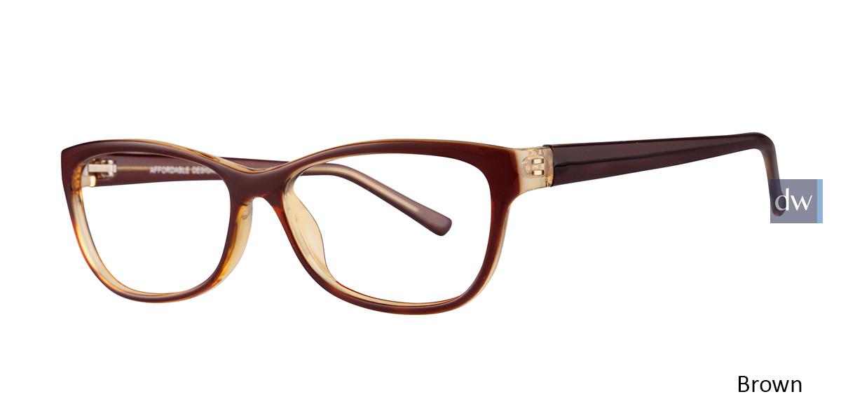 Brown Affordable Designs Dawn Eyeglasses.