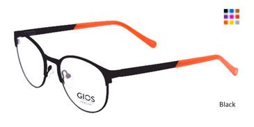 Black Gios Italia GLP100049 Eyeglasses - Teenager