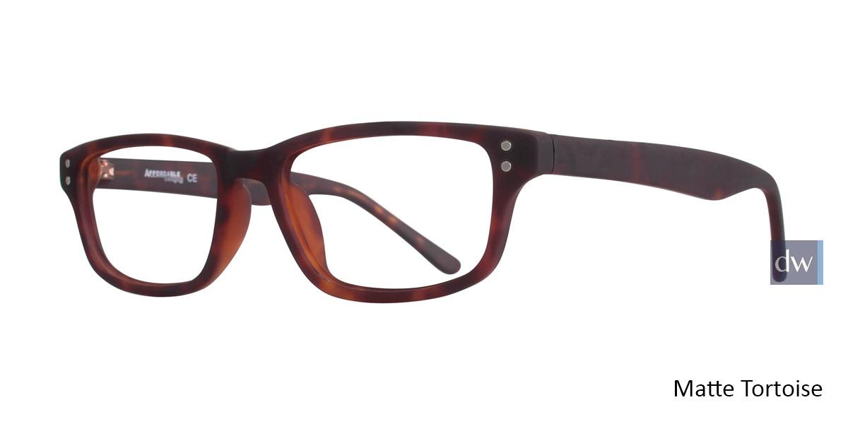 Matte Tortoise Affordable Designs Guppy Eyeglasses.