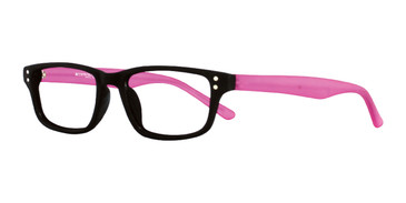 Black/Plum Affordable Designs Guppy Eyeglasses.