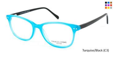 Turquoise/Black (C3) William Morris Charles Stone NY CSNY307 Eyeglasses - Teenager