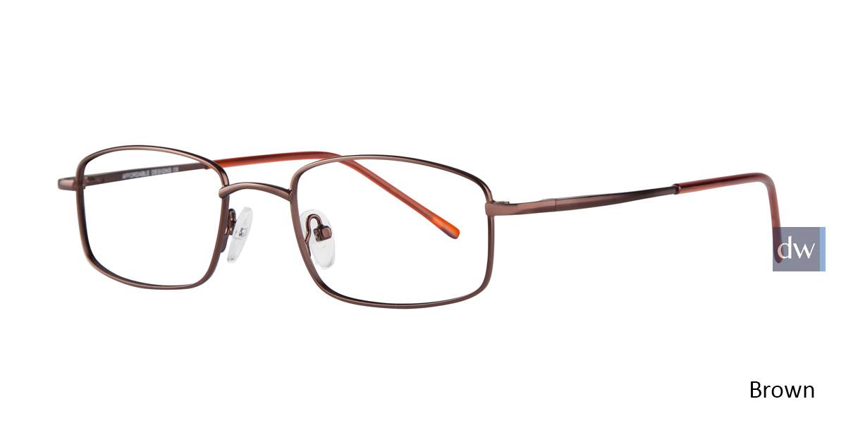 Brown Affordable Designs Kingston Eyeglasses.