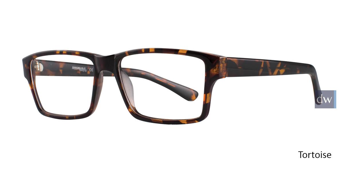 Tortoise Affordable Designs Leo Eyeglasses.