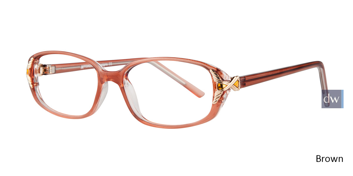 Brown Affordable Designs Lisa Eyeglasses.