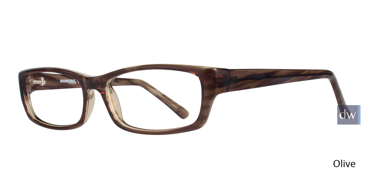Olive Affordable Designs Matthew Eyeglasses.