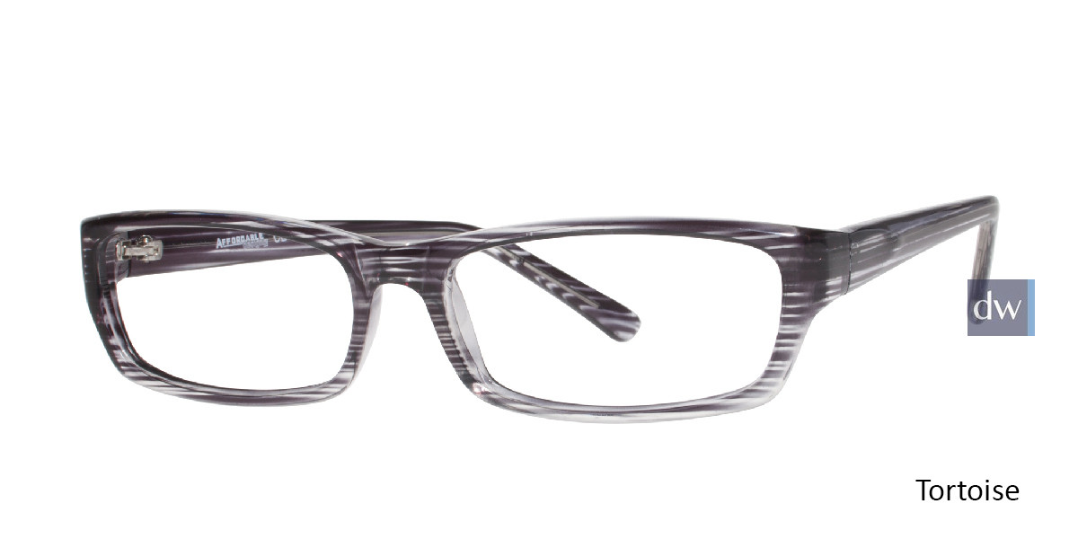 Tortoise Affordable Designs Matthew Eyeglasses.