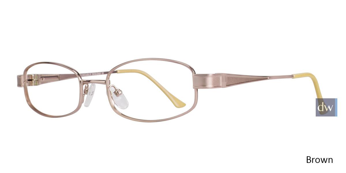 Brown Affordable Designs Nancy Eyeglasses.