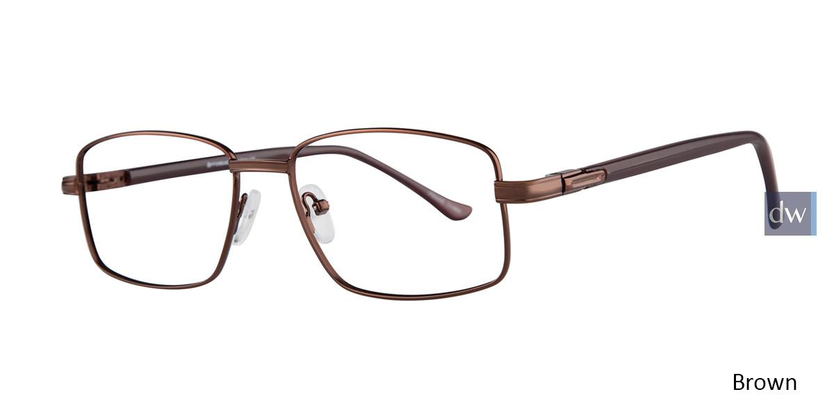 Brown Affordable Designs Noah Eyeglasses.