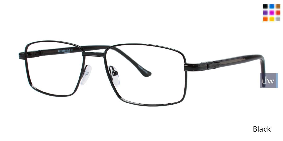 Black Affordable Designs Noah Eyeglasses.