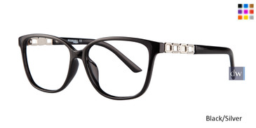 Black Silver Affordable Designs Pam Eyeglasses.