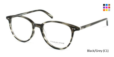Black/Grey (C1) William Morris Charles Stone NY CSNY30005 Eyeglasses - Teenager