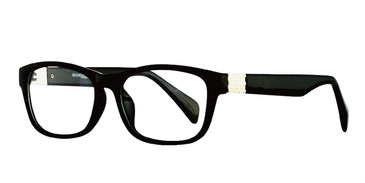 Black/Silver Affordable Designs Ricky Eyeglasses.
