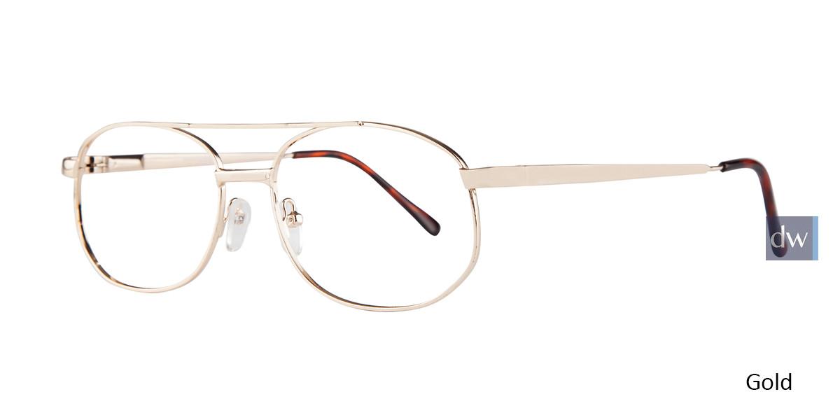 Gold Affordable Designs Robert Eyeglasses.