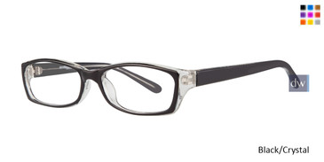 Black Crystal Affordable Designs Shannon Eyeglasses.