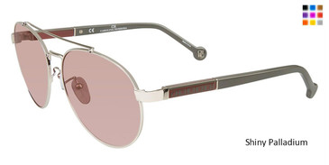 Shiny Palladium Carolina Herrera SHE088 Sunglasses.
