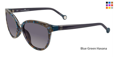 Blue Green Havana Carolina Herrera SHE688 Sunglasses.