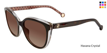 Havana Crystal Carolina Herrera SHE694 Sunglasses.