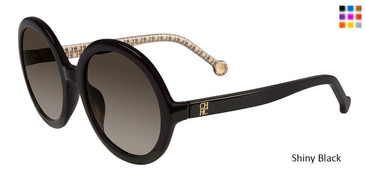 Shiny Black Carolina Herrera SHE696 Sunglasses.