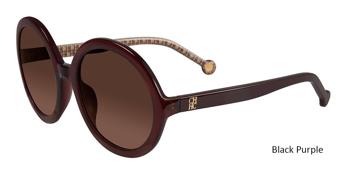 Black Purple Carolina Herrera SHE696 Sunglasses.