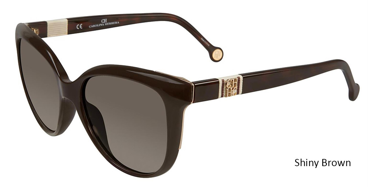 Shiny Brown Carolina Herrera SHE697 Sunglasses.