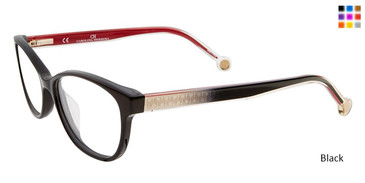 Black Carolina Herrera VHE726K Eyeglasses.