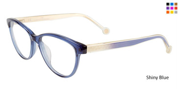 Shiny Blue Carolina Herrera VHE677K Eyeglasses.