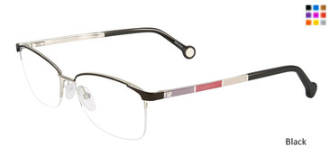 Black Carolina Herrera VHE077K Eyeglasses.