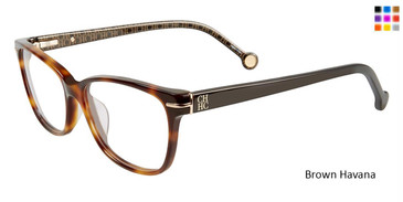Brown Havana Carolina Herrera VHE635K Eyeglasses.