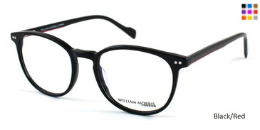 Black/Red William Morris London WM50025 Eyeglasses