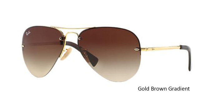 Gold Brown Gradient 001/13 RayBan RB3449 - Gold Sunglasses