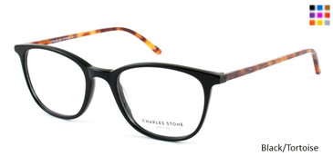 Black/Tortoise William Morris Charles Stone NY CSNY 30001 Eyeglasses - Teenager