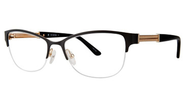 Matte Black/Gold Vivid Boutique 5017 Eyeglasses.