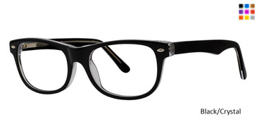 Black/Crystal Vivid 873 Eyeglasses Teenager.