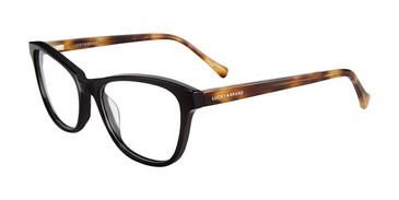 Black Lucky Brand D207 Eyeglasses.