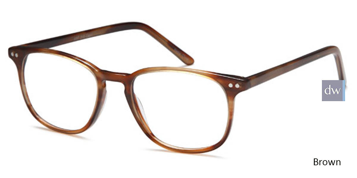 Brown Capri Artistik Eyewear ART 313 Eyeglasses - Teenager