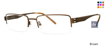 Brown Wired 6007 Eyeglasses