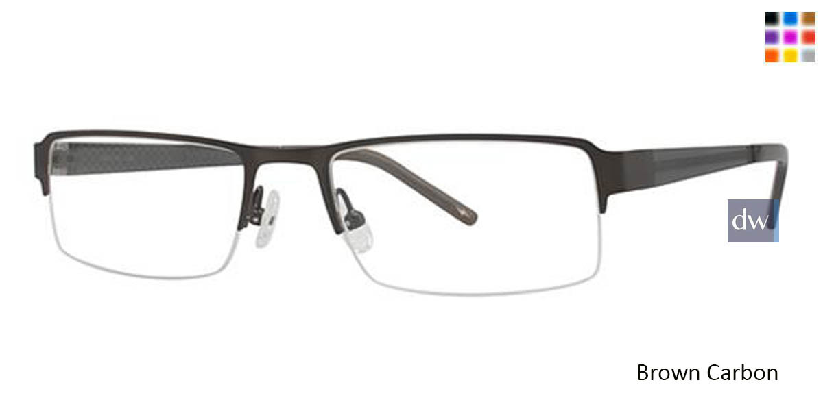 Brown Carbon Wired 6016 Eyeglasses.
