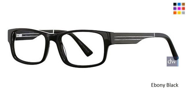 Ebony Black Wired 6033 Eyeglasses