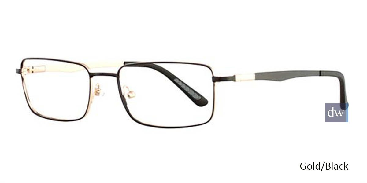 Gold/Black Wired 6038 Eyeglasses