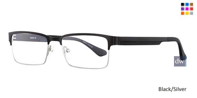Black/Silver Wired 6043 Eyeglasses