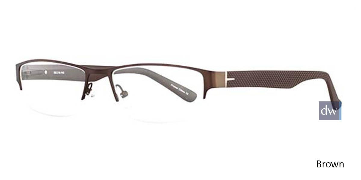 Brown Wired 6044 Eyeglasses.