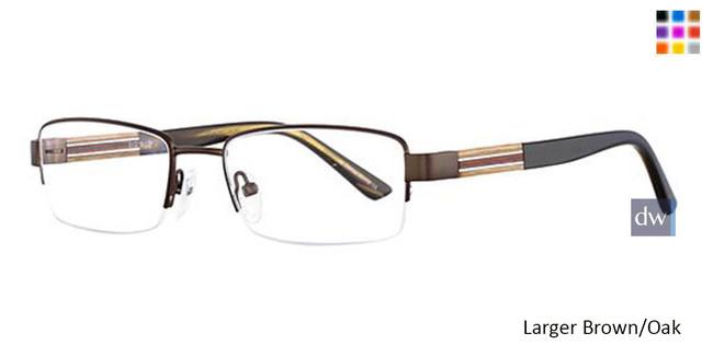 Larger Brown/Oak Wired 6046 Eyeglasses