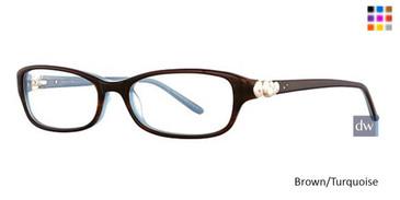 Brown/Turquoise Vavoom 8024 Eyeglasses