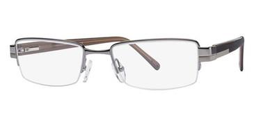 Dark Silver Avalon 1842 Eyeglasses.